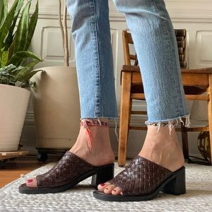 Romano: 'Shea' Braided Leather Mules